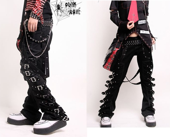 punk rave kera visual kei pants review