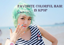 best colorful hair in kpop
