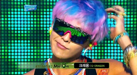 gdragon blue and pink