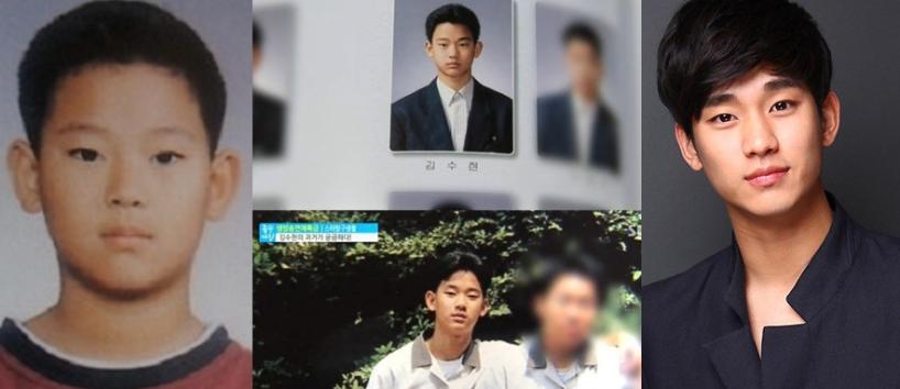 kim soo hyun childhood photos
